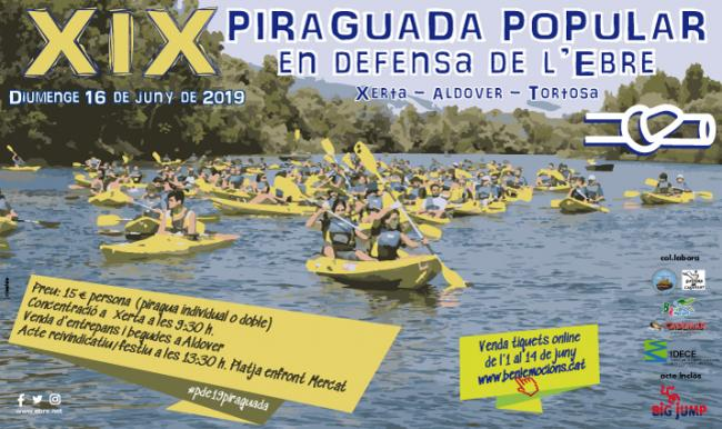 XIX Piraguada popular en defensa de l'Ebre